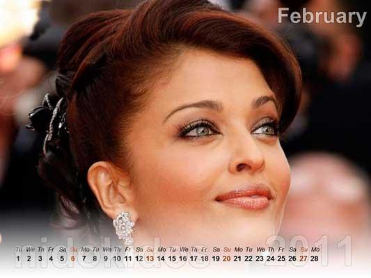 Aishwarya Rai Calendar 2011