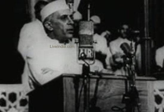 Jawaharlal Nehru tryst with destiny