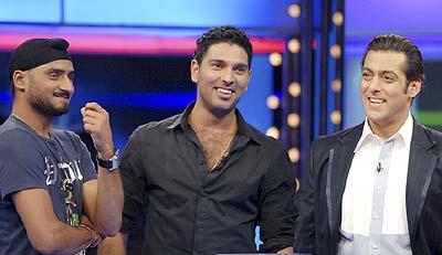 Photo of Yuvraj Singh & his friend  Salman