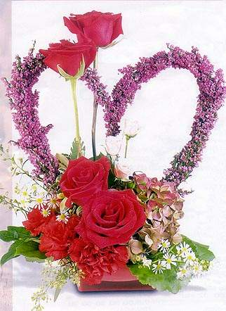 Valentines Flowers on Times Valentine S Day Cards Have Been Adorned With Hearts  Flowers