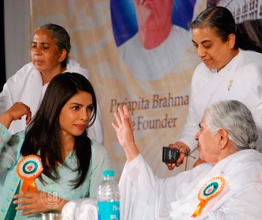Priyanka with Brahma Kumaris